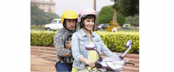 Bollywood star Aamir Khan plays cool and charismatic in 'PK' off-screen