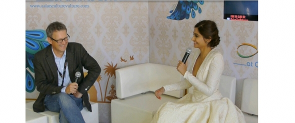 Sonam Kapoor interview Cannes 2015 in India pavilion (video)