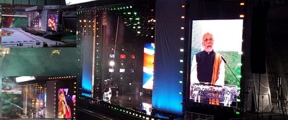 Narendra Modi at Wembley – entertainment spectacular