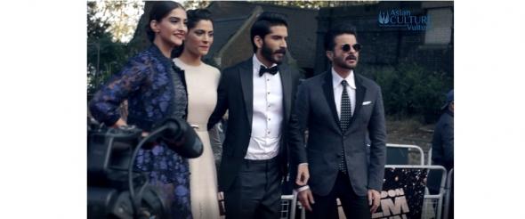 Sonam Kapoor & family support Harshvardhan in MIrzya Red Carpet London Film Festival (video)