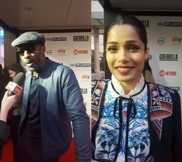 Freida Pinto, Idris Elba and other stars on Guerrilla red carpet